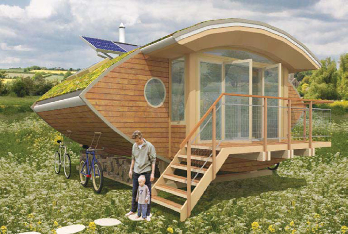Build your own eco friendly house for Small sustainable homes